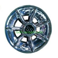 China Silver Ss 12 Inch Wheel Covers , Black Golf Trolley Wheel Covers Chrome Finishing on sale