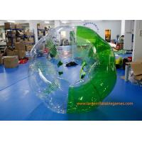 Quality Soft Handle / Safe Belt Inflatable Green half-color bumper ball  with SGS CE Certification for sale
