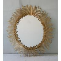 Quality Oval Iron Mirror Wall Decor , 76 * 100cm Bathroom Mirror Wall Stickers Decor for sale