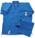 Quality Blue Lightweight GI Karate Uniform , Elastic Waist with Drawstring for sale