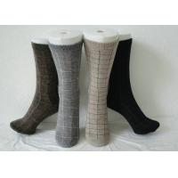 China Black Thermal Men Angora Wool Socks Spots Pattern For Winter on sale