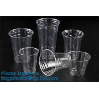 Quality Elegant Shape Drinking Straw Promotional Cups With Straws Single Wall Plastic Cup,double wall custom plastic cups no min for sale