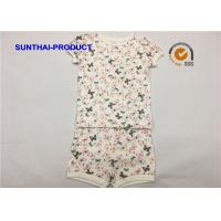 Buy cheap Butterfly Print Children's Clothing Sets Picot Short Sleeve Top And Short For from wholesalers