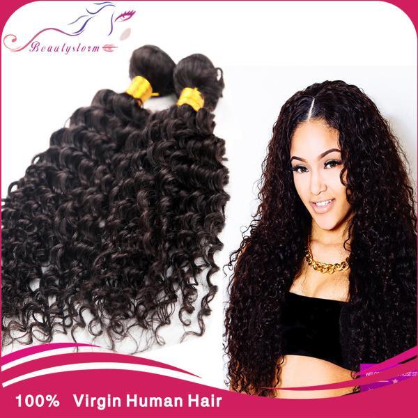 Yaki Human Hair Curly Weave 20