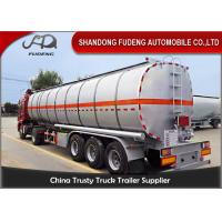 Quality 42000 L fuel tanker semi truck trailer for diesel oil delivery for sale