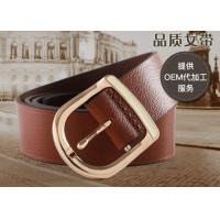 Quality Braided Womens Leather Belt In Brown Color , Female Leather Belts For Long Life for sale