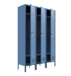 Quality 3 Compartment metal Staff Locker Cabinet Gym Storage Locker for sale