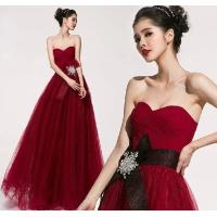 Quality Custom Chiffon Sexy Sweetheart neckline party dresses for Prom , Red for sale