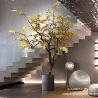 Autumn Style Artificial Maple Tree Japanese Hotel Coffee Shop Decoration for sale