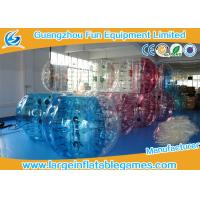 Buy cheap Half Color Blue / Red / Clear Knocker Ball Soccor Inflatable Human Balloon with Customized Size product