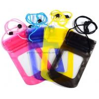 0.3mm Vinyl small waterproof pouch for iphone / samsung cell phone