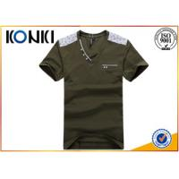 Buy Beautiful Mens Short Sleeve V Neck T Shirts Printing Business at wholesale prices