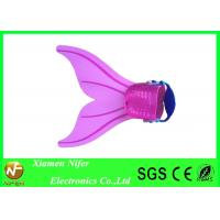 China Pink Mermaid Tail Mono Silicone Swim Fins With Adjust Strap For Kids Diving Use on sale