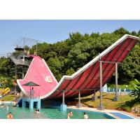 Quality Swing Wave Pool Water Slide , Fiberglass Pool Slide Water Paly Equipment for sale