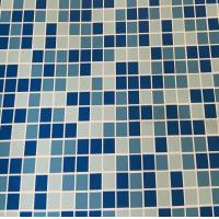 Buy cheap 1.5mm, 1.83*25m Hot selling Durable PVC Blue Mosaic Swimming Pool Liner Material from wholesalers