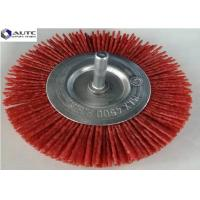 China Abrasive Nylon Wire Wheel Brush 1.4mm Wire Diameter Red Colour For Polishing on sale