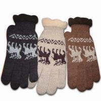 Quality Men's Acrylic Knitted Gloves with Thinsulate Lining for sale