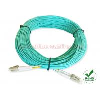 Quality Multimode OM4 LC Fiber Patch Cables Aqua Cable Color For Data Center Cabling for sale