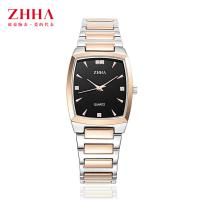 Buy cheap Rose Gold Rectangular Stainless Steel Quartz Wrist Watch Water Resistance from wholesalers