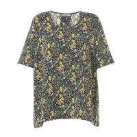 China Plus Size Ladies Fashion Tops With Floral Printed Wear In Summer Beach on sale