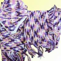 Quality Acrylic Knitted Hat, Scarf and Poncho Set for sale