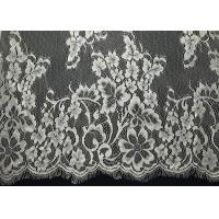"""Buy cheap French Non Stretch 60"""" Eyelash Decorative Lace Trim White Lady Top Floral from wholesalers"""