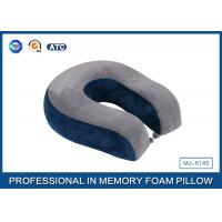 Buy cheap Super Comfort Memory Foam Travel Neck Support Pillow With Button product