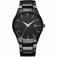 Quality Elite Essential Watch Luxury Clock Stainless Steel Quartz Wrist Watch Black Stainless Steel Watches for Men for sale
