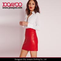 Quality Sexy Highwaist Faux Leather Mini Skirt Shiny Red Tube Short Skirt for sale