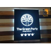 Quality Wall Mounted Indoor Store Led Directional Signs / Logo Metal Signbox with Backlit & Frontlit Lighting for sale