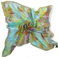 Quality Digital Printing Silk Square Scarf (HP-C02) for sale