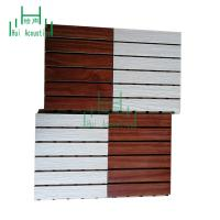 China Decorative Wooden Grooved Acoustic Panel For Walls  MDF Grooved Panel Auditorium Acoustic Grooved Panel with color chart on sale
