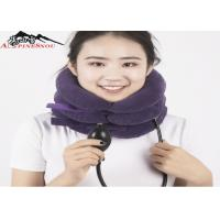 China Inflatable Cervical Collar / Air Pump Cervical Traction Collar For Neck Brace on sale