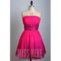 Quality Wholesale rose knee-length strapless silk party dress homecoming dress for sale