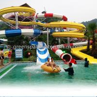 Quality Children Spray Park Equipment Colorful Fiberglass Water Slide SGS Certification for sale