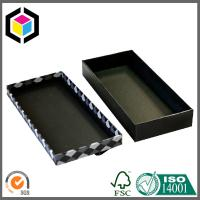 China Matte Black Color Printing Cardboard Gift Box; Lid Off Chipboard Box on sale