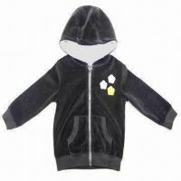 China Toddler Girl's Lined Velour Hoodie on sale
