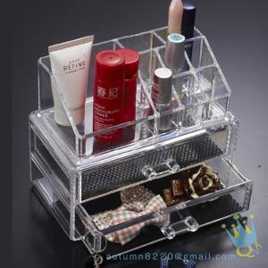 Quality clear acrylic lockable storage box for sale