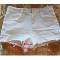 Quality Slim Used Womens Shorts Second Hand Womens Jean Shorts Adults Age Group for sale