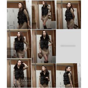 China Women's Fox Fur VestS Fox Fur Coats Fox Fur Jacket Japanese & Korean style Z41 Black on sale