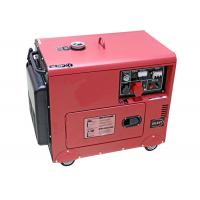 Quality Diesel power 5000w 5kw Small portable electric generator silent type 186FAE Engine for sale