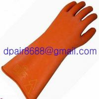 Quality Latex Rubber Electrician Insulating Gloves for sale
