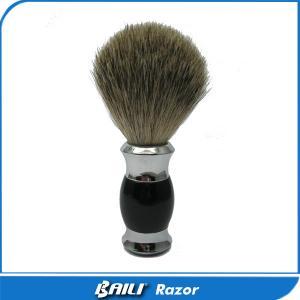 Quality High Density Shaving Care Black Pure Badger Brush Hair Metal Heavy Handle for sale