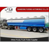 Buy cheap Carbon Steel 15000 Gallon 50m³ Fuel Tanker Semi Trailer 12 Wheeler Plam Oil Transport product