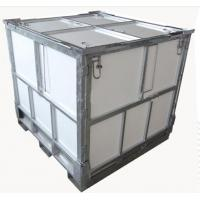 Quality 1000L Steel Folding IBC Intermediate Bulk Container With Coated PP Panel for sale