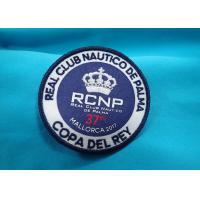 Quality Heat Press Badge Custom Embroidered Patches , Iron On Patch Applique For Clothing for sale