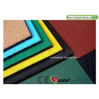 Quality Recycled Rubber Playground Mats / Sport Court Flooring 50 * 50 * 2cm for sale