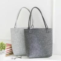 Quality Free Sample Lowest MOQ High Quality Big Tote Bag Shopping Felt Handbags. size is 35cm*30cm 2mm microfiber material. for sale