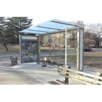 Quality Heat Resistant Stainless Steel Bus Stop / Passenger Waiting Shelter Aesthetic Appeal for sale