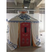 Quality Windproof Luxury Mongolian Yurt With Insulation Blanket Inside Decorative for sale